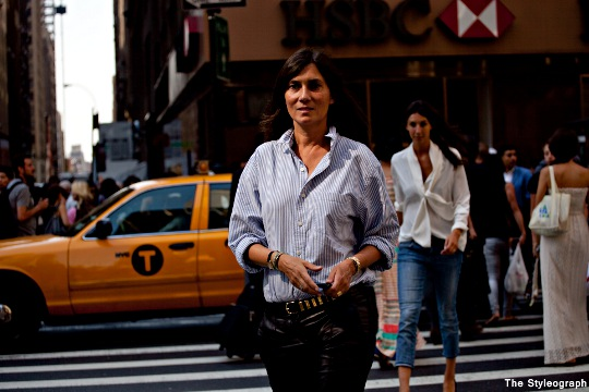 Emmanuelle Alt New York Fashion Week Streetstyle