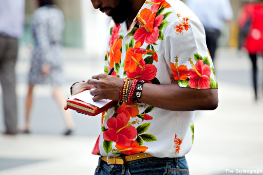 Floral Print Men's Shirt New York Fashion Week SS13