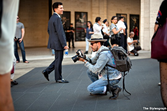 street style photographers at work new york fashion week