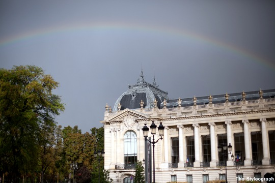 Rainbow after Rochas Paris Fashion Week