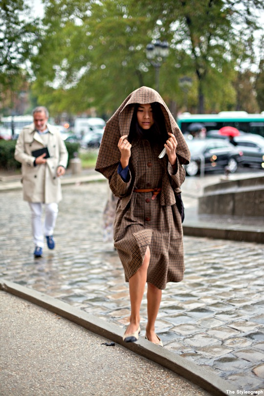 Paris Fashion Week Mode Street Style Rain Coat