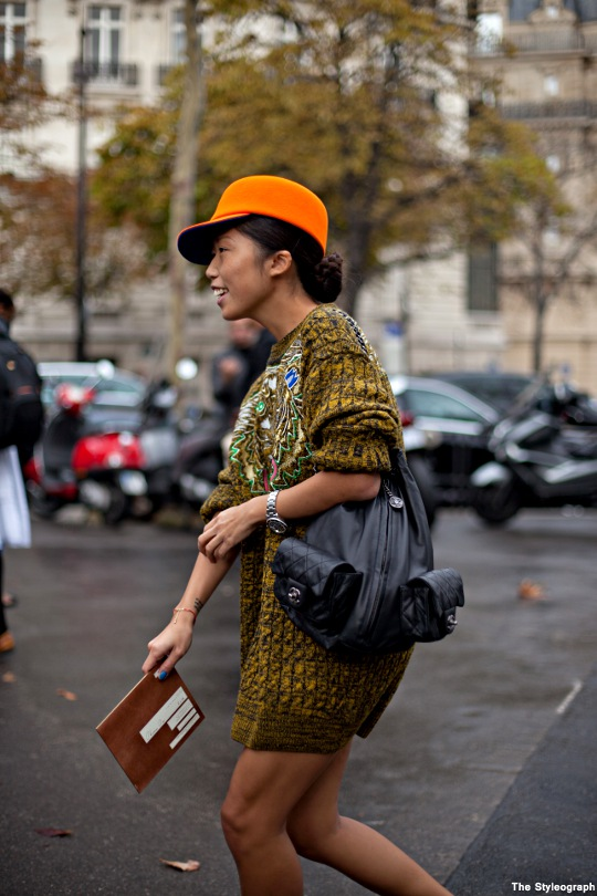 Oxana Ong Russian Glamour Street Style Paris