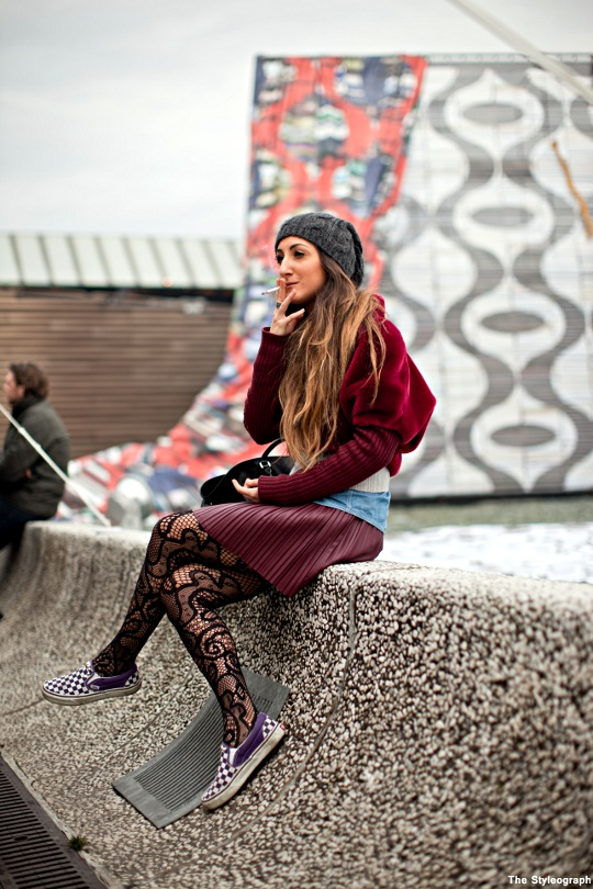 italian women streetstyle winter