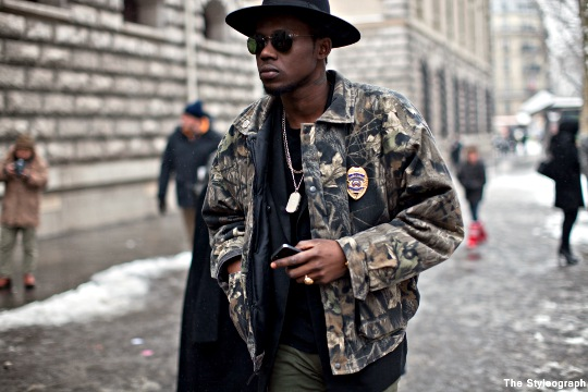 camouflage men street fashion paris