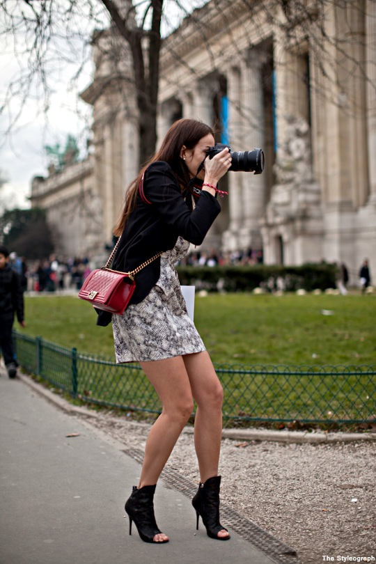 street style photographers at work