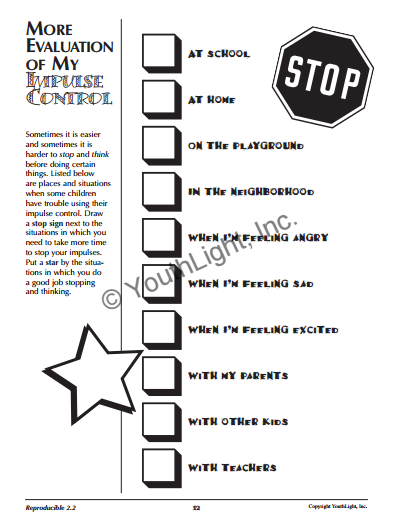 Impulse Control Activities & Worksheets for Elementary