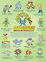 "Superflex Takes on the Unthinkables! Poster (18"" x 24"")"