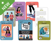 The Zones of Regulation: Tools to Try Cards for Tweens & Teens