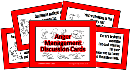 Anger Management Discussion Cards Secondary
