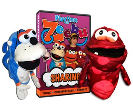 Playtime with Zeebu DVD & Puppet Combination