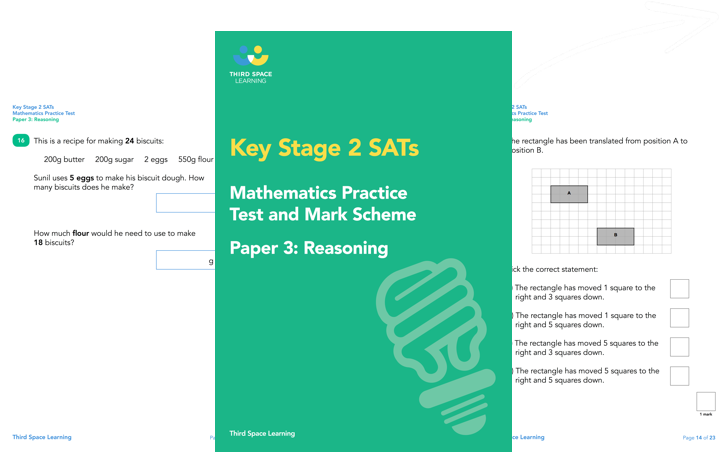 KS2 Maths SATs Reasoning Practice Paper 3 (Pack 1) Cover Image