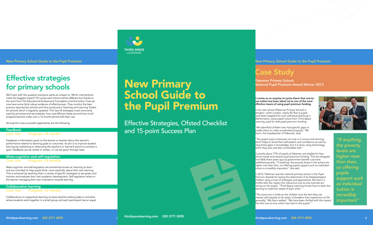 Primary School Guide to the Pupil Premium Cover Image