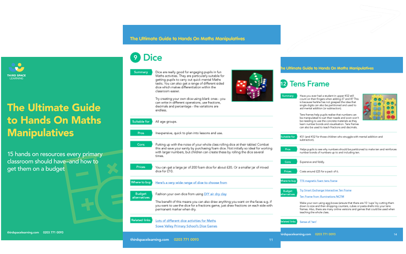 The Ultimate Guide to Maths Manipulatives Cover Image