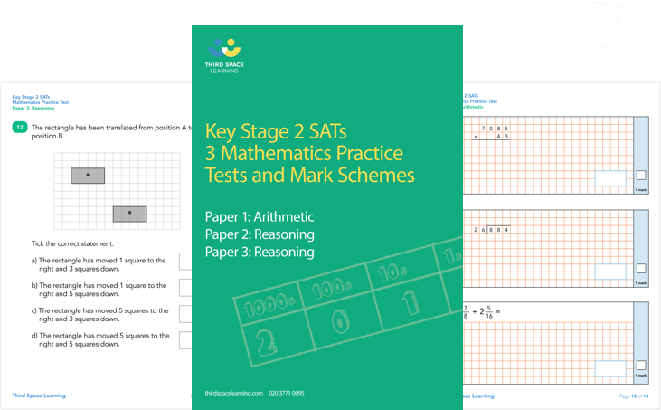 KS2 Maths SATs Practice Papers: Set of 3 (Pack 1) Cover Image