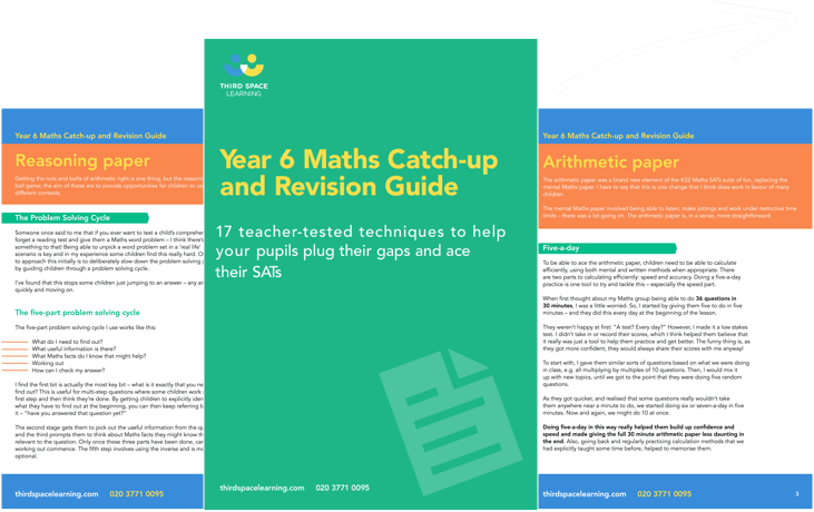 Year 6 Maths Catch-up and Revision Guide for KS2 SATs Cover Image