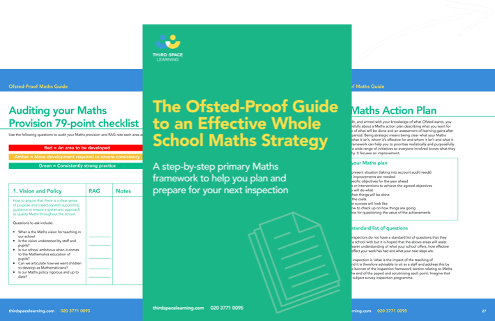 The Ofsted-Proof Guide to an Effective Whole School Maths Strategy Cover Image