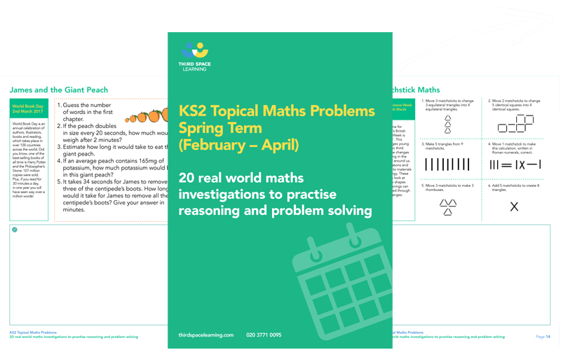 KS2 Topical Maths Problems for Spring Term 2017  Cover Image