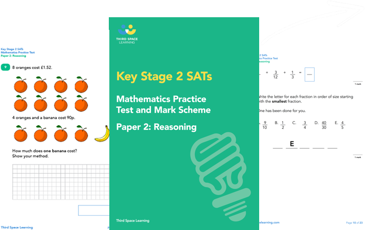 KS2 Maths SATs Reasoning Practice Paper 2 (Pack 1) Cover Image