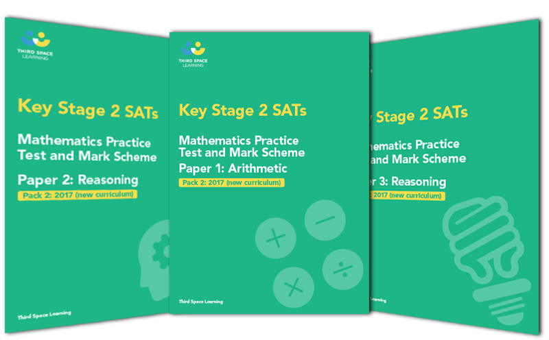 KS2 Maths SATs Practice Papers: Set of 3 (Pack 2) Cover Image