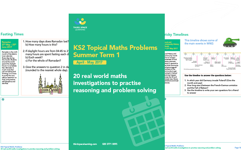KS2 Topical Maths Problems for Summer (1) 2017 Cover Image