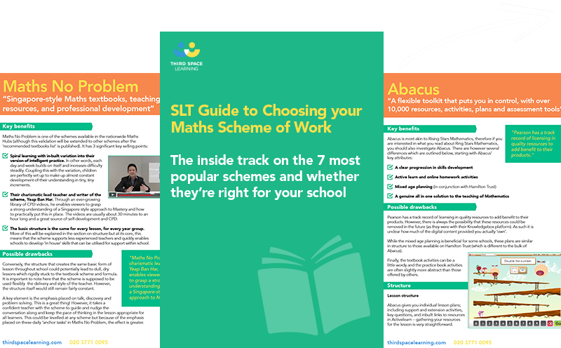 Guide to Choosing Your Maths Scheme of Work Cover Image