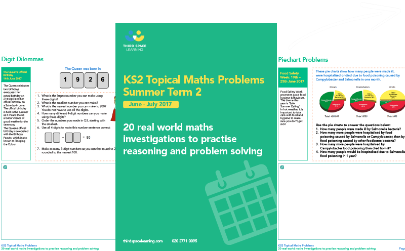 KS2 Topical Maths Problems for Summer (2) 2017 Cover Image