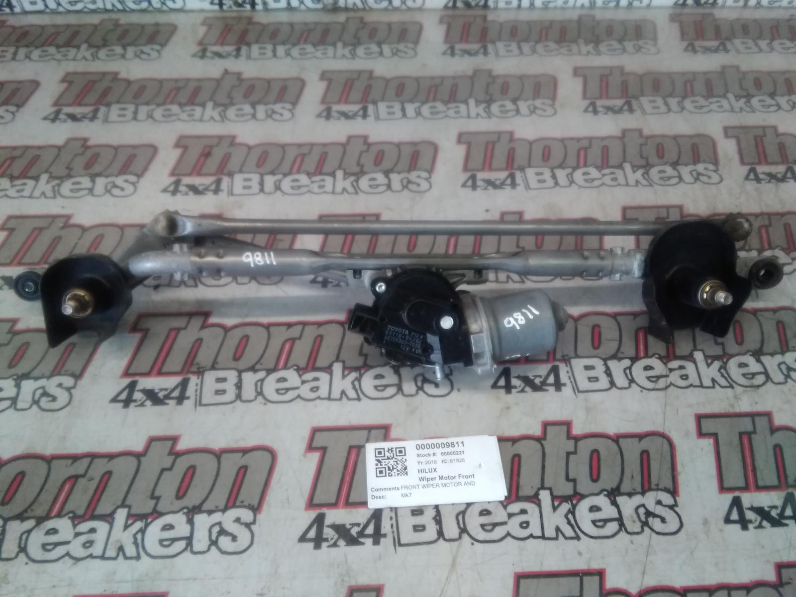 View Auto part Wiper Motor Front TOYOTA HILUX 2018