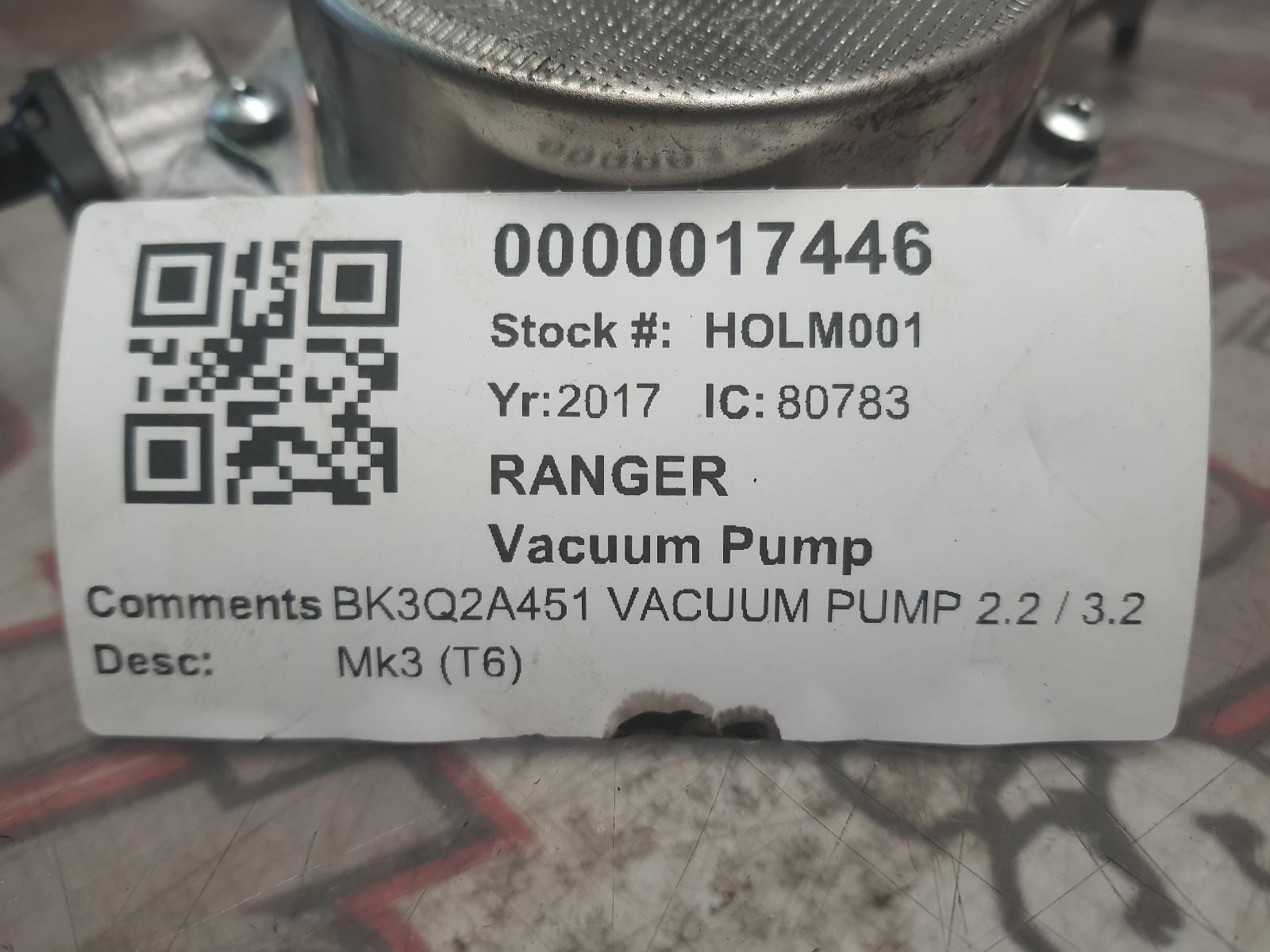 View Auto part Vacuum Pump FORD RANGER 2017