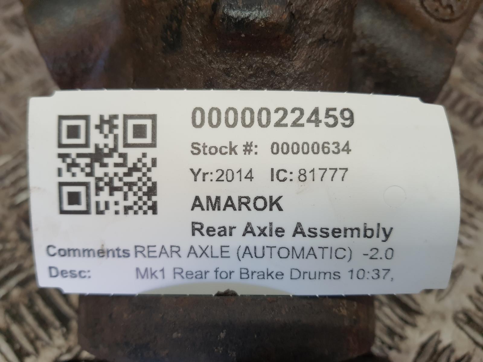 View Auto part Rear Axle Assembly VOLKSWAGEN AMAROK 2014
