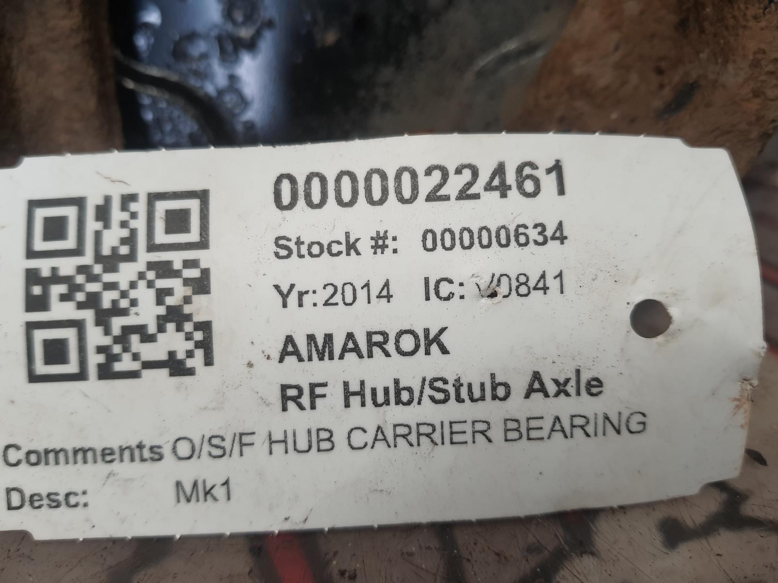 View Auto part RF Hub/Stub Axle Assembly VOLKSWAGEN AMAROK 2014