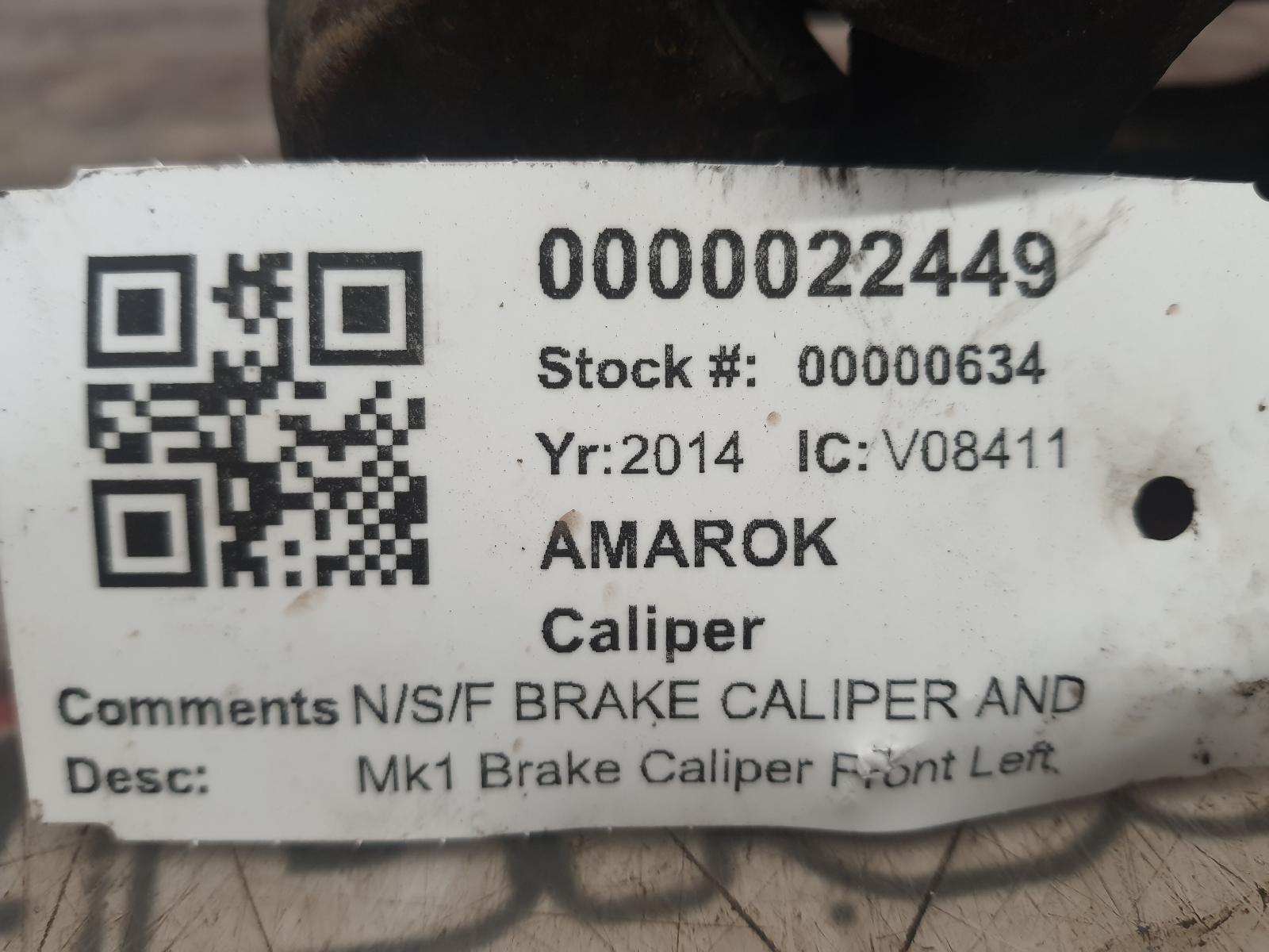View Auto part Caliper VOLKSWAGEN AMAROK 2014