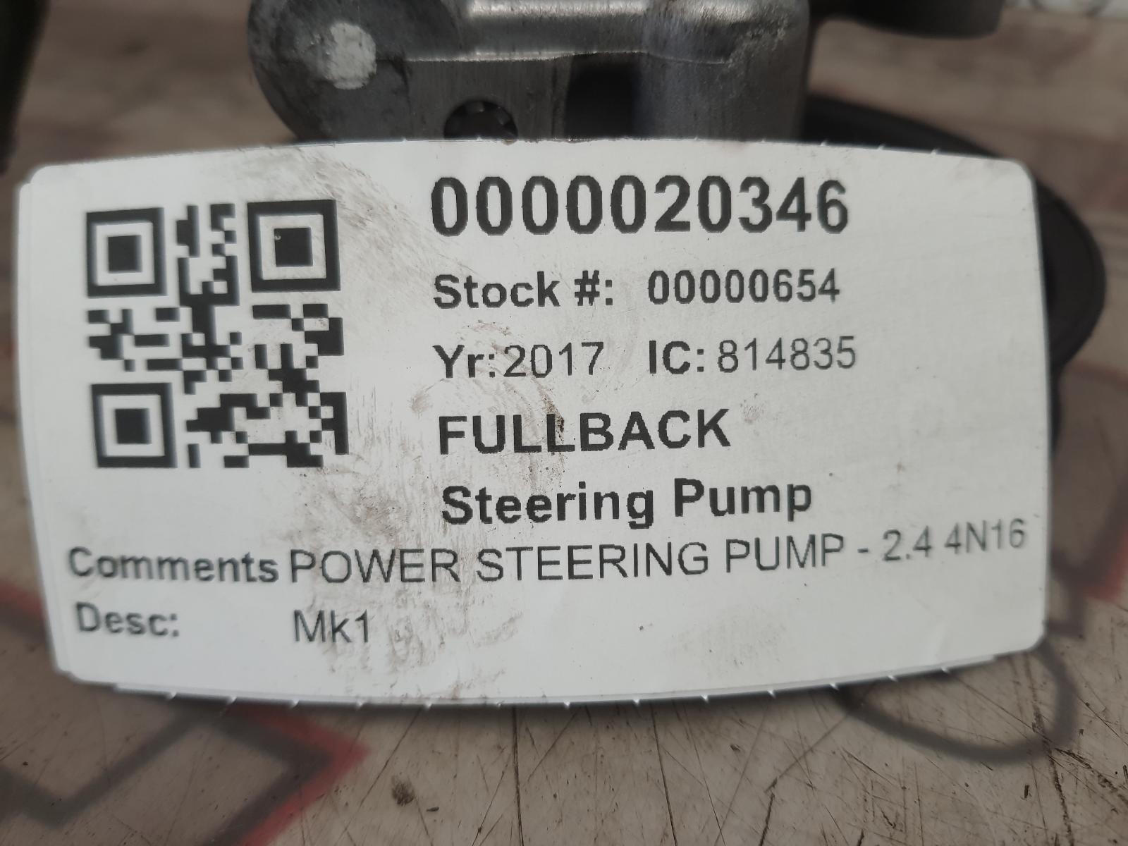 View Auto part Steering Pump FIAT FULLBACK 2017