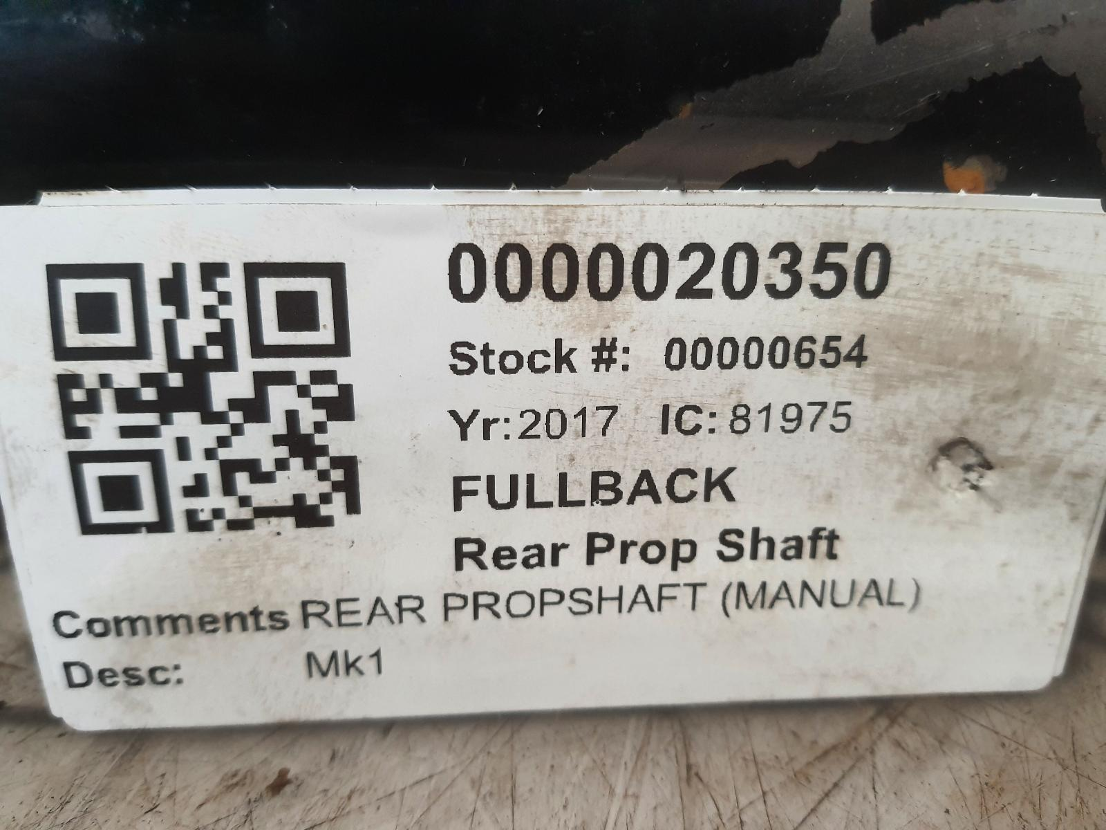 View Auto part Rear Prop Shaft FIAT FULLBACK 2017
