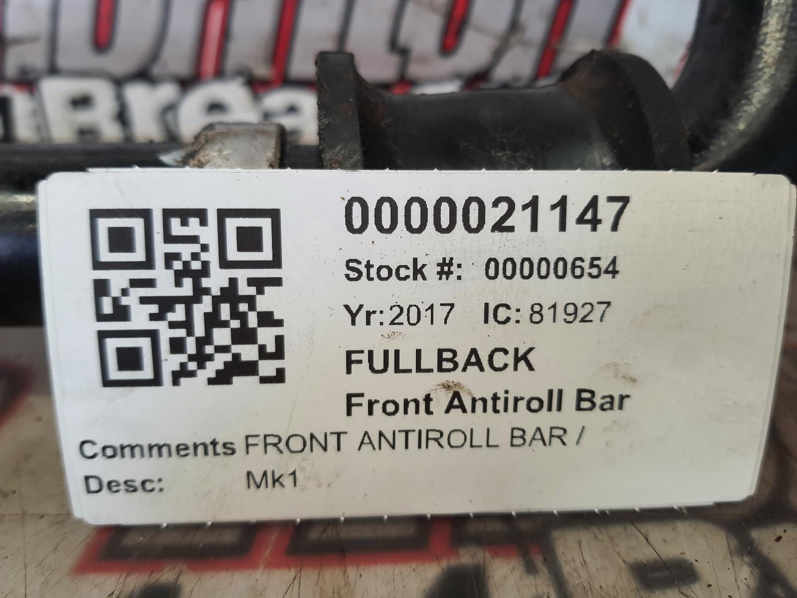 View Auto part Stabiliser Bar FIAT FULLBACK 2017