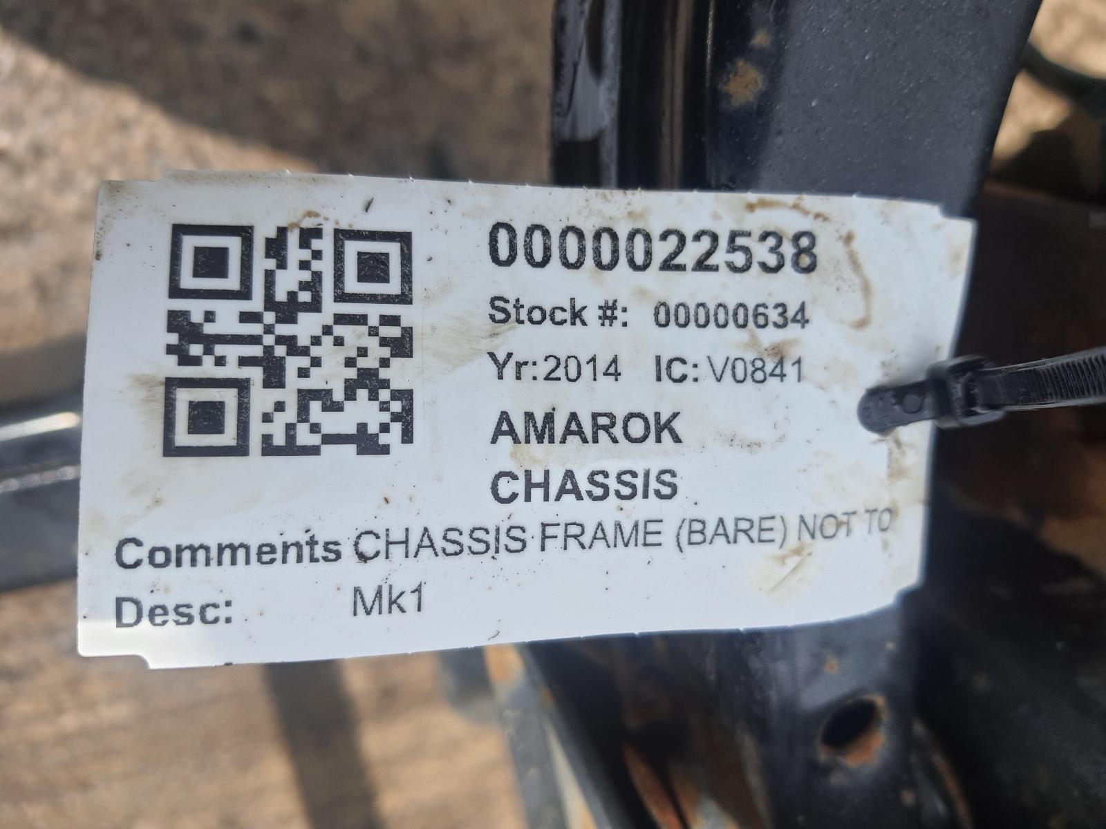 View Auto part Chassis VOLKSWAGEN AMAROK 2014