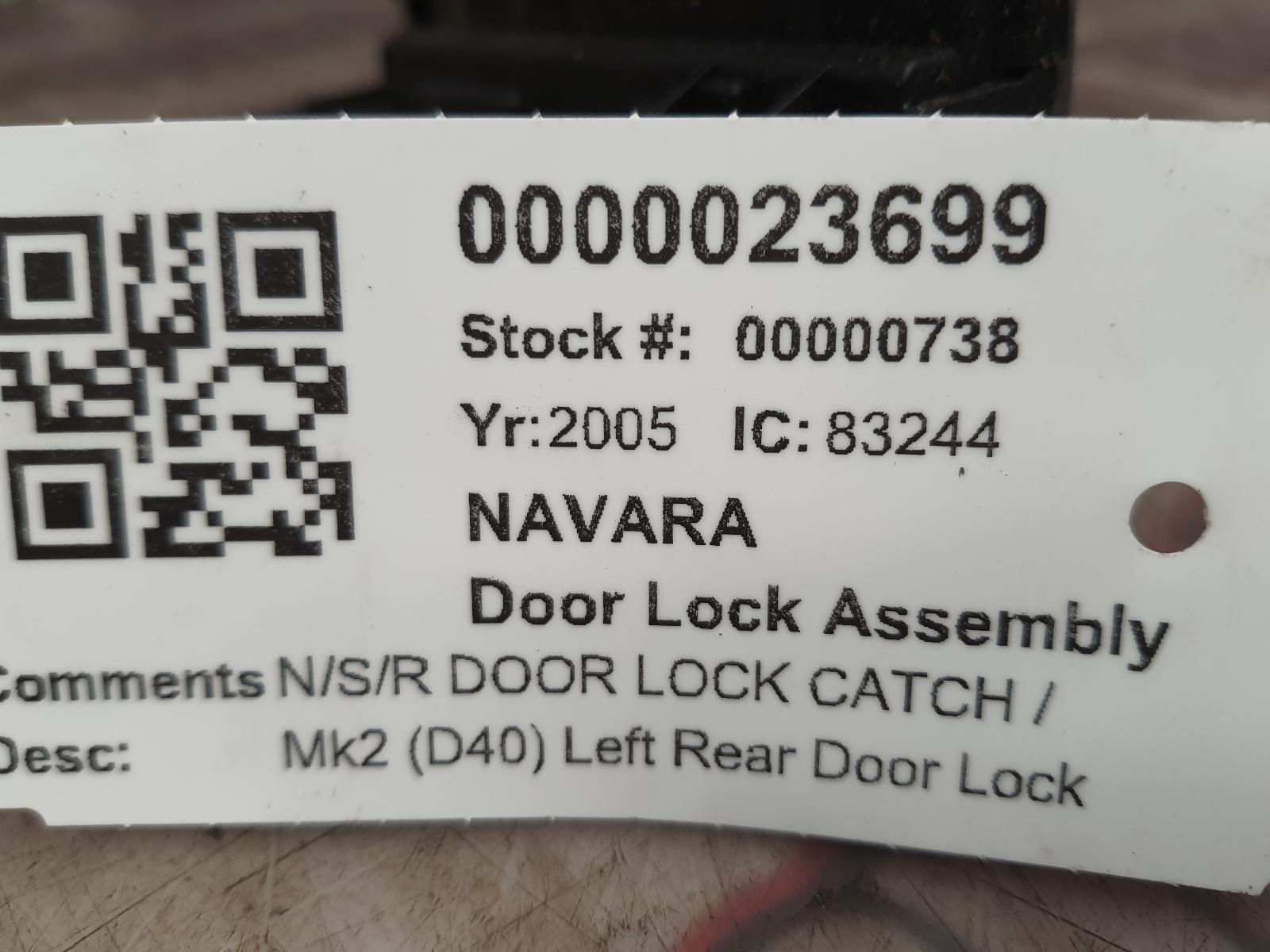 View Auto part Door Lock Assembly NISSAN NAVARA 2005