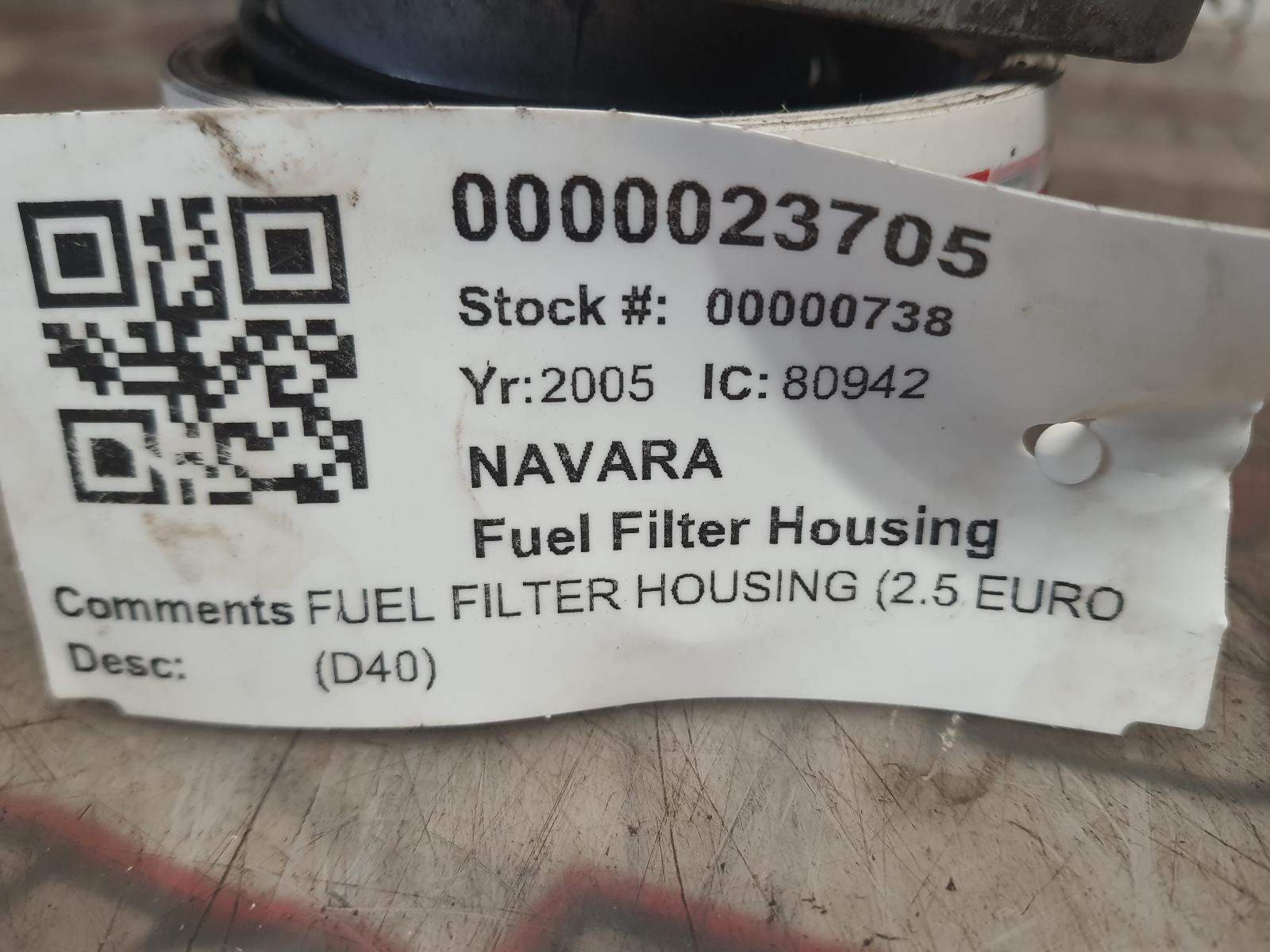 View Auto part Fuel Filter Housing NISSAN NAVARA 2005