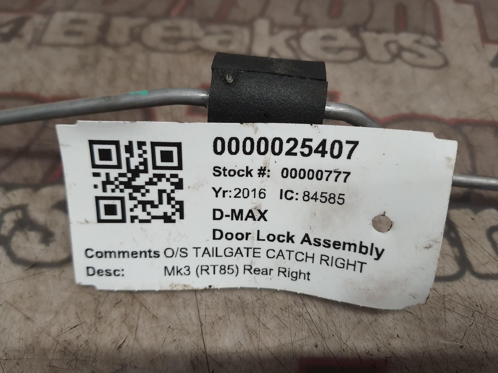View Auto part Door Lock Assembly ISUZU D-MAX 2016
