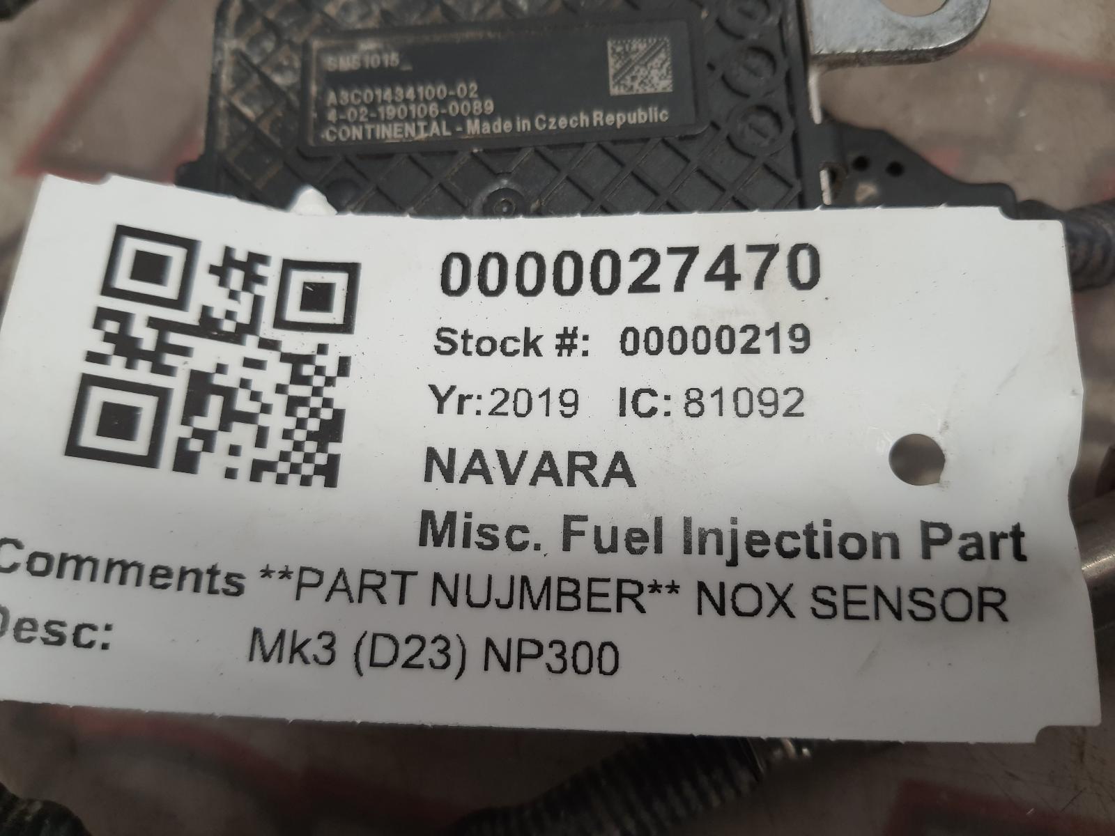 View Auto part Misc Fuel Injection Part NISSAN NAVARA 2019