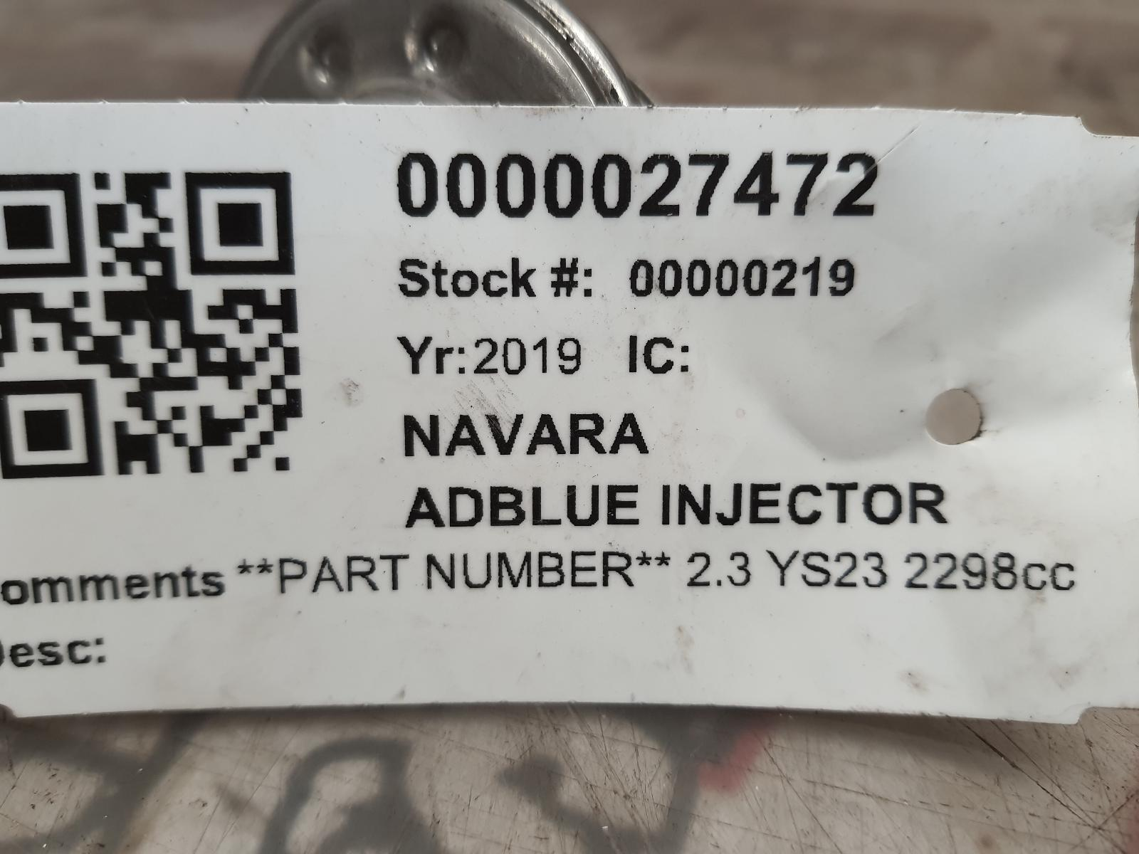 View Auto part AD_BLUE_INJECTOR NISSAN NAVARA 2019