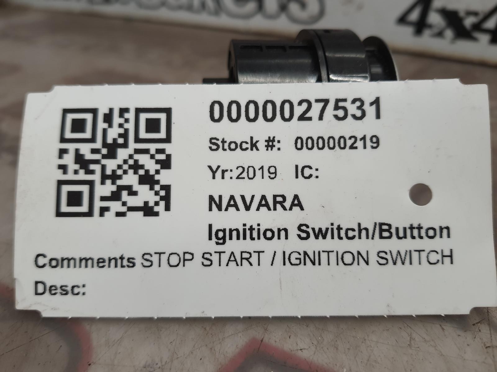 View Auto part Ignition Switch/Button NISSAN NAVARA 2019