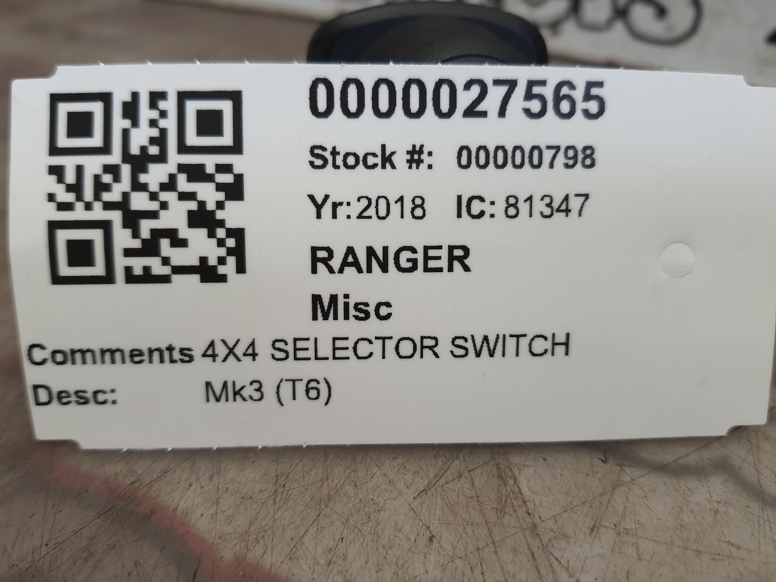View Auto part Misc FORD RANGER 2018