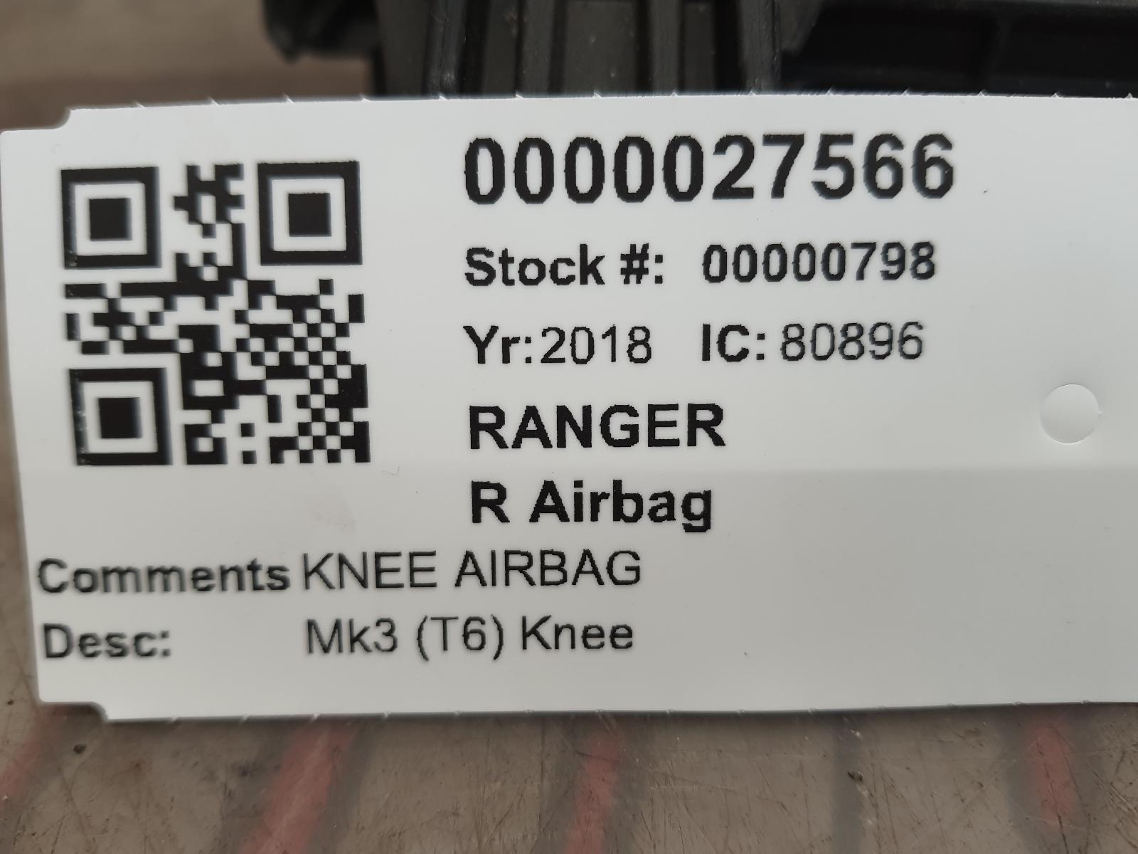 View Auto part R Air Bag FORD RANGER 2018
