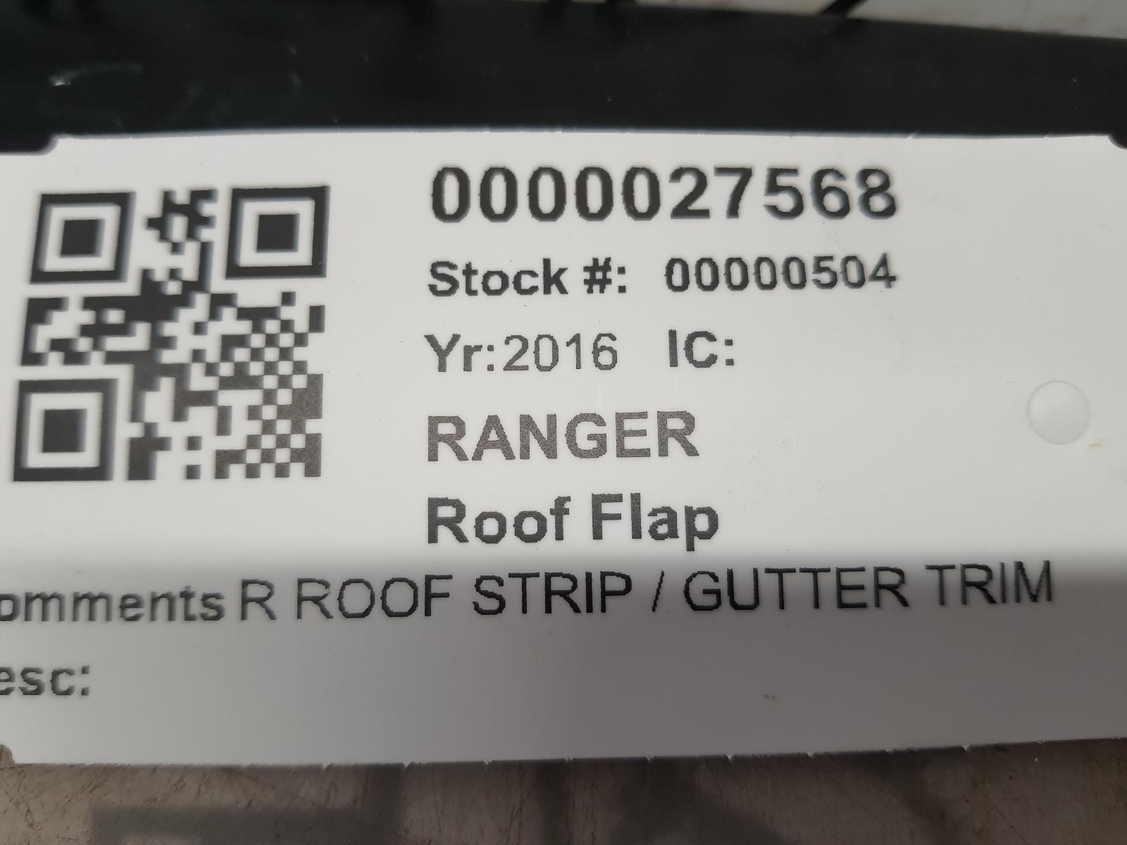 View Auto part Roof Flap FORD RANGER 2016
