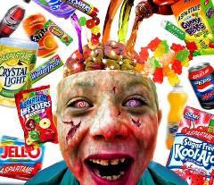 Suiker verslaafde zombie kinderen van tegenwoordig