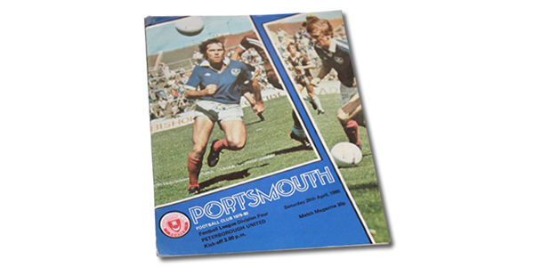 Vintage: Portsmouth vs Peterborough 1980 programme signed by Alan Knight