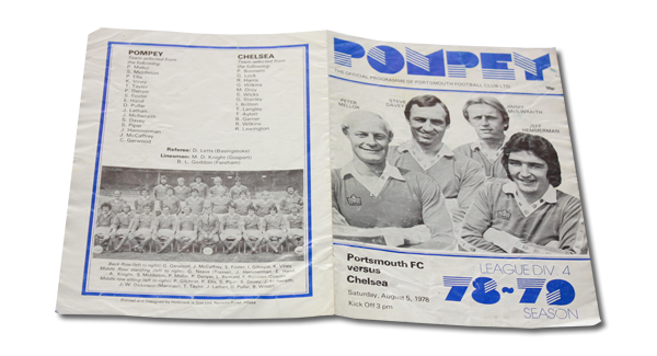Vintage: Portsmouth vs Chelsea 1978 programme signed by Alan Knight