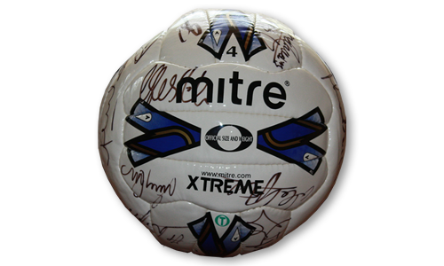 2007 Mitre Football signed by first team