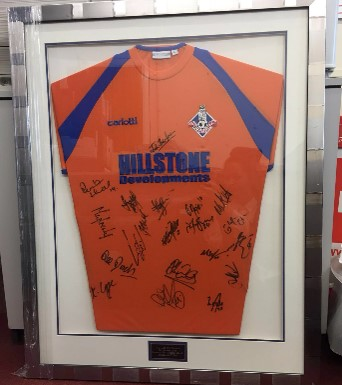FA Cup 2008 3rd round win vs Everton framed shirt, signed by entire squad!