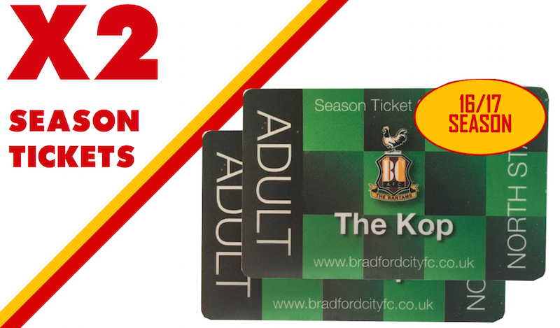 Chance to win 2 x Bradford City 2016/17 Season Tickets